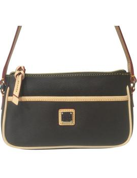En904 Carley Lola Brown Tmoro Coated Canvas Leather Trim Shoulder Bag by Dooney & Bourke