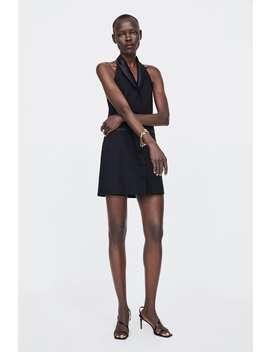 Contrasting Satin Dress  New Inwoman by Zara