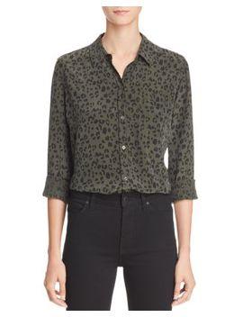 Kate Cheetah Print Silk Shirt by Rails