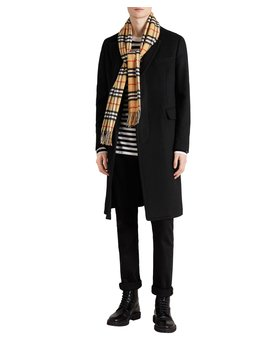 Classic Vintage Check Cashmere Scarf by Burberry