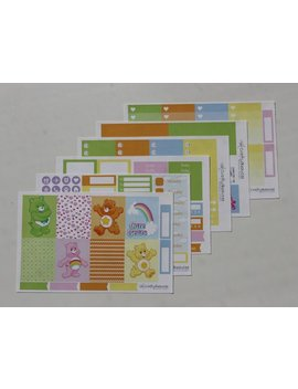 Care Bears Weekly Kit   Planner Stickers   Erin Condren   Happy Planner   Vertical by Etsy