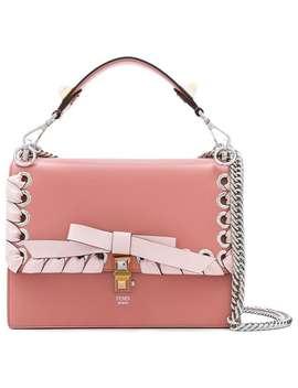 Pink Kan I Leather Shoulder Bag by Fendi