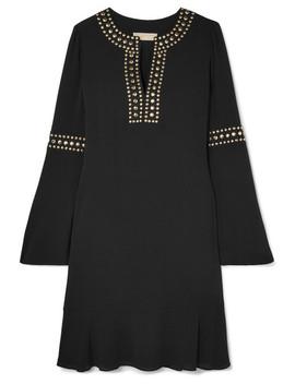 Stud Embellished Crepe Mini Dress by Michael Michael Kors