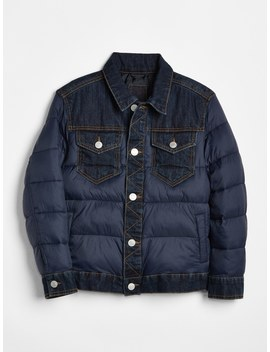 Cold Control Max Down Denim Puffer Jacket by Gap