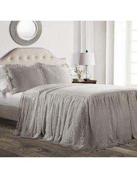 House Of Hampton Arrington Ruffle Skirt 3 Piece Bedspread Set & Reviews by House Of Hampton