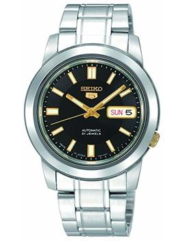 Seiko Unisex Adult Analogue Classic Automatic Watch With Stainless Steel Strap Snkk17 K1 by Seiko