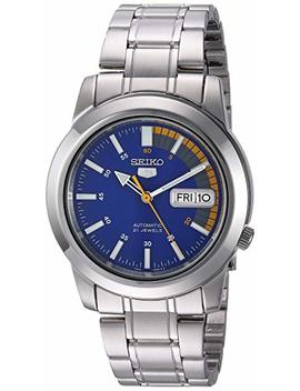 """Seiko Men's Snkk27""""Seiko 5"""" Stainless Steel Automatic Watch by Seiko"""