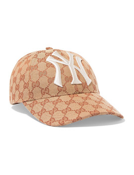 Embroidered Coated Canvas Baseball Cap by Gucci