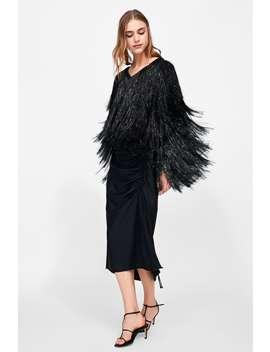 Sparkly Faux Fur Jacket  Jacketswoman by Zara