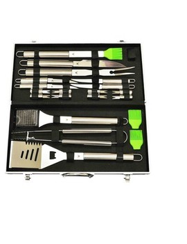 20pc Stainless   Steel Bbq Tool Set With Aluminum Storage Case   G & F by G & F Products