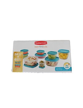 Rubbermaid Easy Find Lids Food Storage Container, Aquamarine 24 Piece Set With 6 Bonus Pieces by Rubbermaid