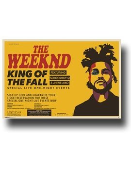 The Weeknd Poster   2015 Concert Tour King Of Fall 11 X 17 Wide by Concert Promoter937