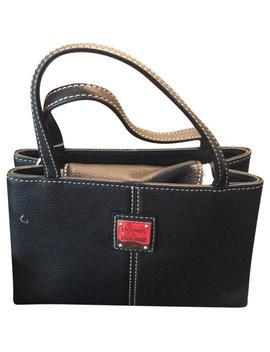 Tiny East/West Ql396 Bm Black Or Very Dark Brown Calfskin Leather Baguette by Dooney & Bourke