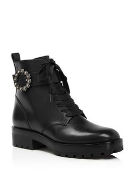 Women's Ryder Leather Booties   100 Percents Exclusive by Michael Michael Kors
