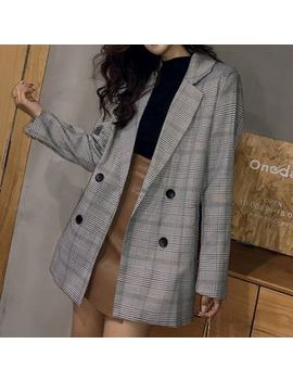 Hecate   Double Breasted Plaid Coat by Hecate