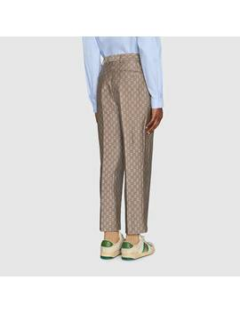 Gg Wool Canvas Formal Pant by Gucci