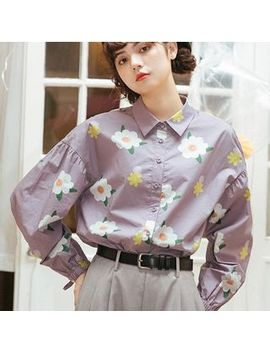 Lidia   Floral Print Shirt by Lidia