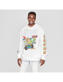 Men's Long Sleeve Toy Story Hooded Pullover Sweatshirt   White by Disney