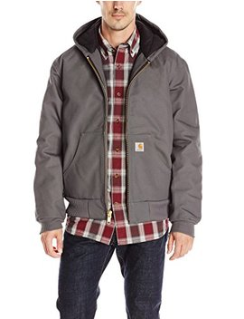 Carhartt Men's Quilted Flannel Lined Duck Active Jacket by Carhartt