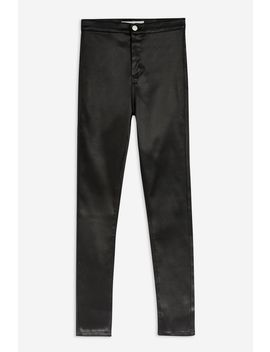 Black Sateen Joni Jeans by Topshop