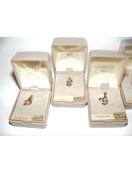 Selection Of Vintage 14 Kt Gold Filled Initial Charms/Pendants   Customer's Choice by Etsy