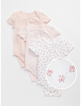 First Favorite Floral Short Sleeve Bodysuit by Gap
