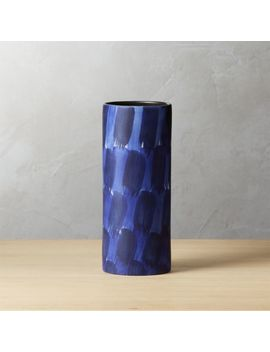 Pryce Blue And White Vase by Crate&Barrel