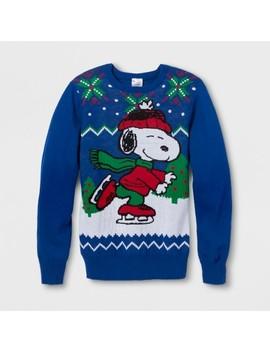 Men's Peanuts Snoopy Skate Long Sleeve Sweatshirt   Royal Blue by Peanuts