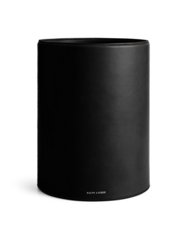 Brennan Leather Waste Bin by Ralph Lauren