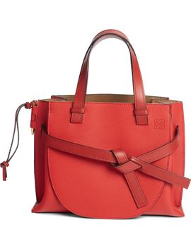 Gate Calfskin Leather Tote by Loewe