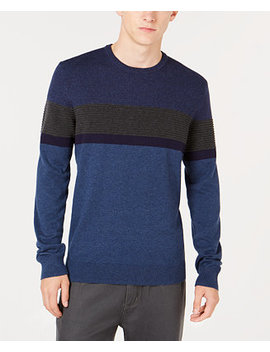 Men's Ottoman Striped Sweater, Created For Macy's by Alfani