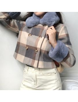 Sinora   Plaid Double Breasted Coat by Sinora