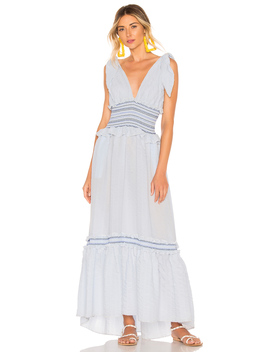 Smocked V Neck Dress by Jonathan Simkhai