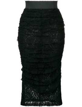Ruffled Lace Skirt by Dolce & Gabbana