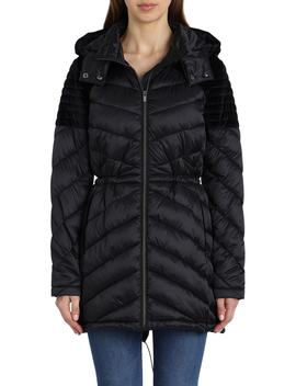 Hooded Puffer Jacket by Badgley Mischka