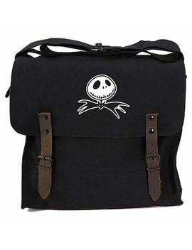 Jack Nightmare Before Christmas Bat Canvas Medic Shoulder Bag In Black by Grab A Smile