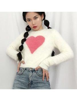 Sinora   Heart Pattern Sweater by Sinora
