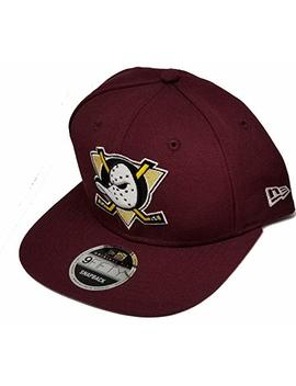 Authentic Discontinued Nhl Anaheim Mighty Ducks Throwback Logo Limited Edition Very Rare 9 Fifty 950 Snapback Snap Back  Maroon Original Fit by New Era
