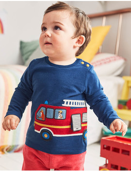 Transport Appliqué T Shirt by Boden