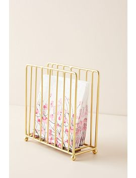 Gold Wire Napkin Holder by Anthropologie
