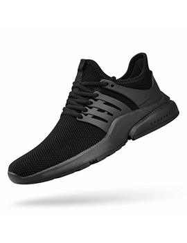 Qansi Men Sneakers Mesh Breathable Casual Running Shoes Ultra Lightweight Fashion Sneakers by Qansi