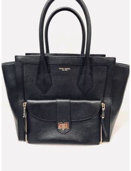 Henri Bendel Rivington Tote Black Pebbled Leather W/Gold Hardware (Msrp $478.00) by Ebay Seller