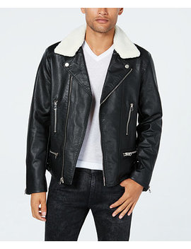 Men's Moto Jacket With Fleece Lined Collar by Reason
