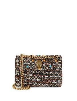 Mini Embellished Tweed Crossbody Bag by Kurt Geiger London