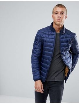 River Island Padded Jacket In Navy by River Island