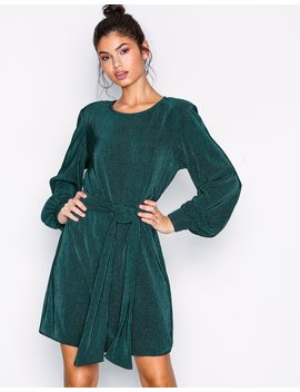 Belted Pleated Dress by Nly Trend