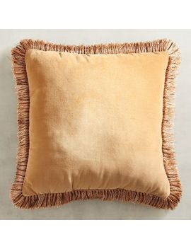 Clay Velvet Pillow With Fringe by Pier1 Imports