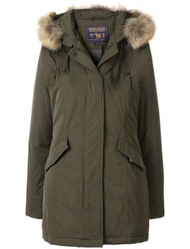 Racoon Fur Hooded Jacket by Woolrich