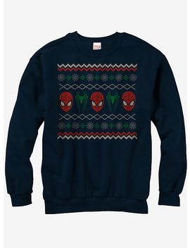 Marvel Spider Man Ugly Christmas Sweater Sweatshirt by Hot Topic