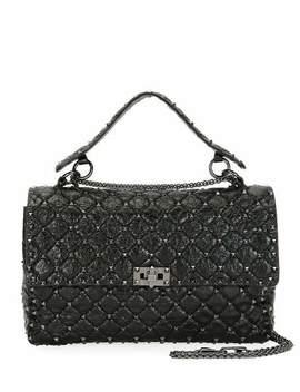Rockstud Spike Large Quilted Leather Shoulder Bag by Valentino Garavani